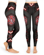 Firefighter Fire Dept High Waist Leggings front