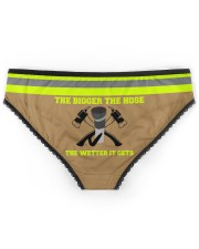 Firefighter The bigger the hose The wetter it gets Women's Briefs back