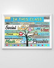 Teacher In this class we practice social distance 36x24 Poster poster-landscape-36x24-lifestyle-02