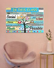 Teacher In this class we practice social distance 36x24 Poster poster-landscape-36x24-lifestyle-19