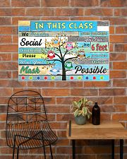 Teacher In this class we practice social distance 36x24 Poster poster-landscape-36x24-lifestyle-20