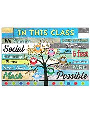 Teacher In this class we practice social distance Horizontal Poster tile
