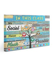 Teacher In this class we practice social distance 30x20 Gallery Wrapped Canvas Prints thumbnail