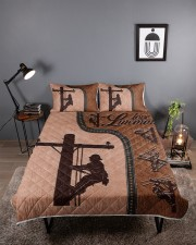 Lineman  Queen Quilt Bed Set aos-queen-quilt-bed-set-lifestyle-front-01