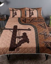 Lineman  Queen Quilt Bed Set aos-queen-quilt-bed-set-lifestyle-front-01a