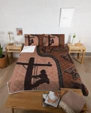 Lineman  Queen Quilt Bed Set aos-queen-quilt-bed-set-lifestyle-front-05