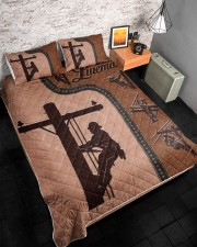 Lineman  Queen Quilt Bed Set aos-queen-quilt-bed-set-lifestyle-front-08