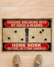 "2nd Amendment Imagine breaking into my house Doormat 34"" x 23"" aos-doormat-34-x-23-lifestyle-front-02"