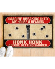 "2nd Amendment Imagine breaking into my house Doormat 34"" x 23"" aos-doormat-34-x-23-lifestyle-front-03"