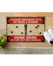 "2nd Amendment Imagine breaking into my house Doormat 34"" x 23"" aos-doormat-34-x-23-lifestyle-front-12"