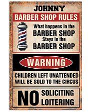 Barber shop rules Vertical Poster tile