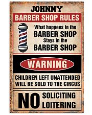 Barber shop rules 24x36 Poster front