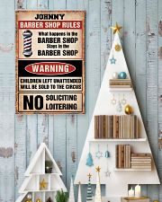 Barber shop rules 24x36 Poster lifestyle-holiday-poster-2
