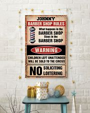 Barber shop rules 24x36 Poster lifestyle-holiday-poster-3
