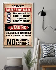 Barber shop rules 24x36 Poster lifestyle-poster-1