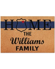 """Police Home Doormat 34"""" x 23"""" front"""