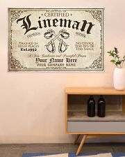 Lineman Problem Solver Train in high places 36x24 Poster poster-landscape-36x24-lifestyle-22