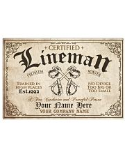 Lineman Problem Solver Train in high places Horizontal Poster tile