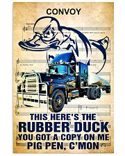 Trucker This here's the rubber duck  24x36 Poster front