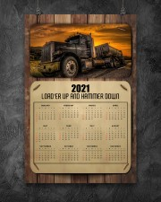 Trucker Load'er up and hammer down 24x36 Poster aos-poster-portrait-24x36-lifestyle-12