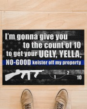"""Police I'm gonna give you to the count of 10 Doormat 34"""" x 23"""" aos-doormat-34-x-23-lifestyle-front-02"""