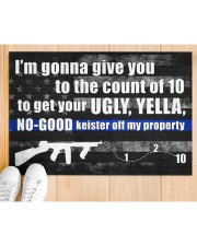 """Police I'm gonna give you to the count of 10 Doormat 34"""" x 23"""" aos-doormat-34-x-23-lifestyle-front-03"""