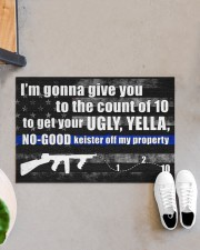 """Police I'm gonna give you to the count of 10 Doormat 34"""" x 23"""" aos-doormat-34-x-23-lifestyle-front-07"""