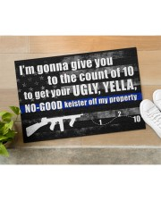 """Police I'm gonna give you to the count of 10 Doormat 34"""" x 23"""" aos-doormat-34-x-23-lifestyle-front-11"""