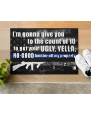 """Police I'm gonna give you to the count of 10 Doormat 34"""" x 23"""" aos-doormat-34-x-23-lifestyle-front-12"""