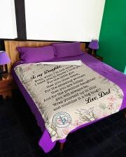 "Lineman To my daughter Large Fleece Blanket - 60"" x 80"" aos-coral-fleece-blanket-60x80-lifestyle-front-01"