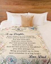 "Lineman To my daughter Large Fleece Blanket - 60"" x 80"" aos-coral-fleece-blanket-60x80-lifestyle-front-02"