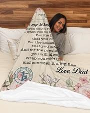 "Lineman To my daughter Large Fleece Blanket - 60"" x 80"" aos-coral-fleece-blanket-60x80-lifestyle-front-03"