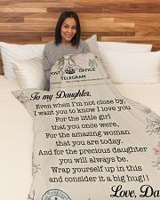 "Lineman To my daughter Large Fleece Blanket - 60"" x 80"" aos-coral-fleece-blanket-60x80-lifestyle-front-05"