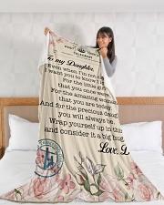 "Lineman To my daughter Large Fleece Blanket - 60"" x 80"" aos-coral-fleece-blanket-60x80-lifestyle-front-11"