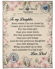 """Lineman To my daughter Large Fleece Blanket - 60"""" x 80"""" front"""
