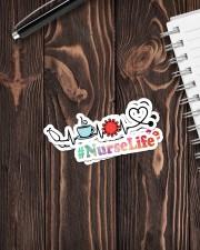 Nurse Life Sticker - 2 pack (Vertical) aos-sticker-2-pack-vertical-lifestyle-front-05