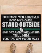 """Veteran Before you break into my house  Doormat 34"""" x 23"""" aos-doormat-34-x-23-lifestyle-front-02"""
