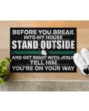 """Veteran Before you break into my house  Doormat 34"""" x 23"""" aos-doormat-34-x-23-lifestyle-front-12"""