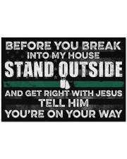 """Veteran Before you break into my house  Doormat 34"""" x 23"""" front"""