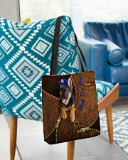 Police Back the blue UP All-over Tote aos-all-over-tote-lifestyle-front-01