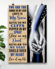 Police Wife Ammo in my gun  24x36 Poster aos-poster-portrait-24x36-lifestyle-19
