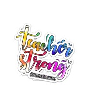 Teacher Strong  Sticker - 2 pack (Vertical) front