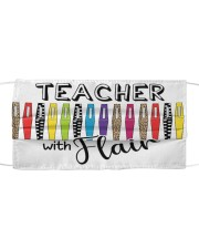 Teacher With flair Cloth face mask front