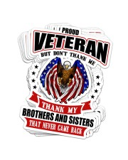 Veteran048 Proud Sticker - 8 pack (Vertical) front
