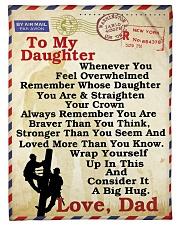 Lineman To my daughter LineBlanket249 Fleece Blanket tile