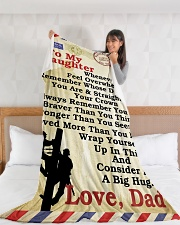 "Lineman To my daughter LineBlanket249 Large Fleece Blanket - 60"" x 80"" aos-coral-fleece-blanket-60x80-lifestyle-front-11"