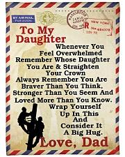 """Lineman To my daughter LineBlanket249 Large Fleece Blanket - 60"""" x 80"""" front"""