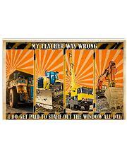 Heavy Equipment My Teacher Was Wrong Horizontal Poster tile