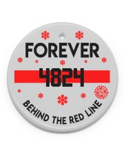 Firefighter Behind the red line Circle Ornament (Porcelain) tile