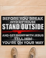 """Amendment Before you break into my house  Doormat 34"""" x 23"""" aos-doormat-34-x-23-lifestyle-front-02"""